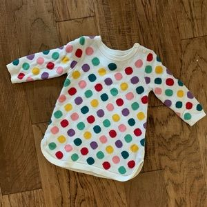 Sweater tunic with colorful spots